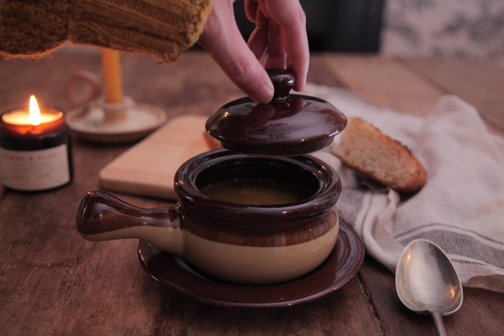 how to create a hygge kitchen on a budget, cosy kitchen, cosy soup bowl, bramble and fox, uk, hygge, shop, gifts