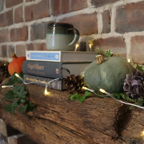 hygge home styling, cosy home styling, autumn decor, bramble and fox