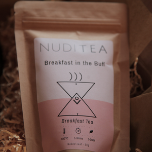 "alt=""nuditea breakfast in the buff loose leaf tea at bramble and fox uk hygge shop"""