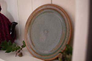 Small 1960s/1970s Rustic Studio Pottery Plate