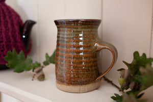 1960s/1970s Ribbed Studio Pottery Mug