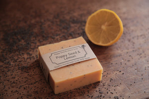 Lemon and Poppy Seed Goat's Milk Soap Bar by Goap