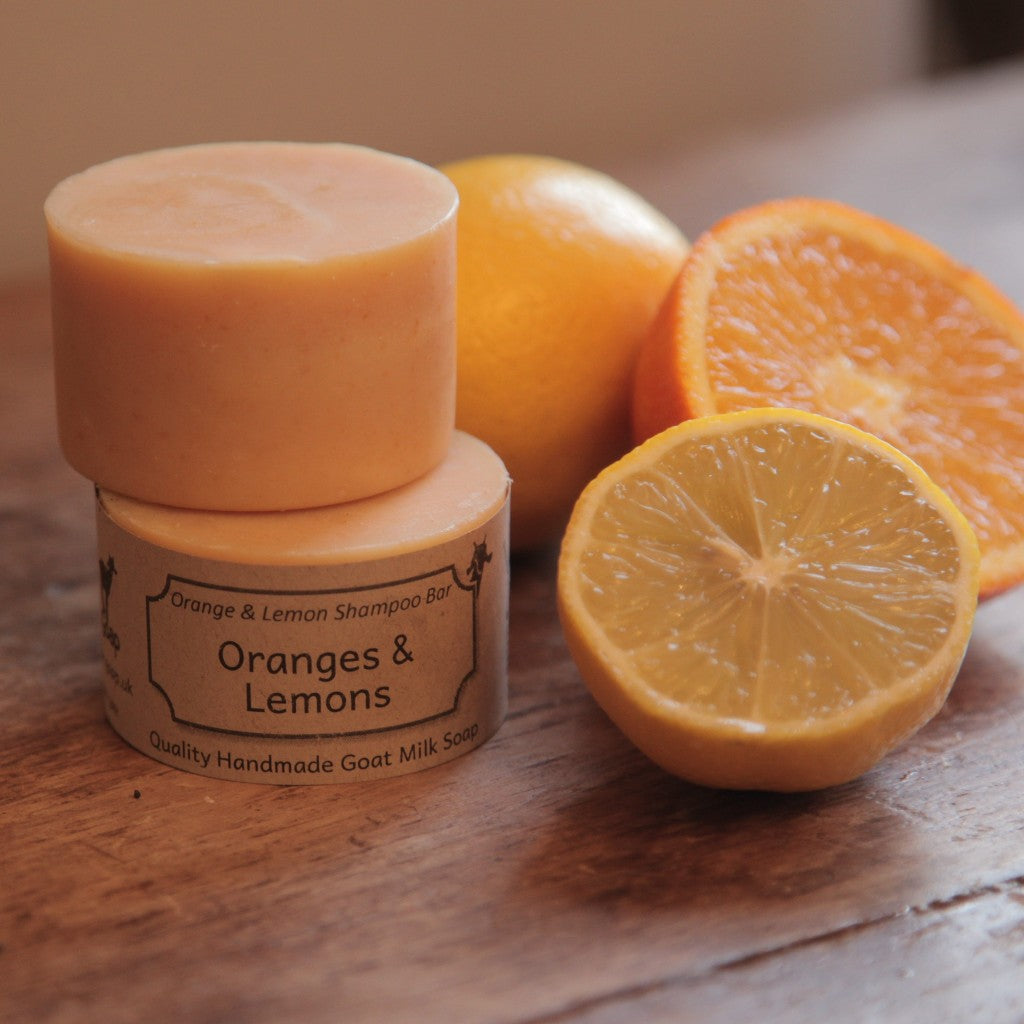 Oranges and Lemons Goat's Milk Shampoo Bar by Goap