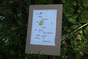 'Wildflowers' Positive Affirmation Card