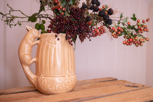 Large 1940s/1950s SylvaC Acorn Vase with Squirrel Handle