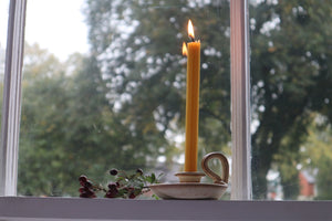 Vintage Grayshott Pottery Chamber-stick Candle Holder