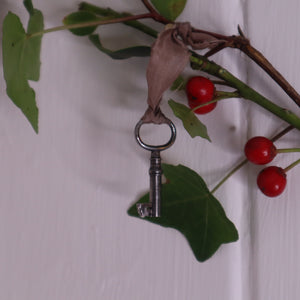 Bramble and fox, antique key, vintage key, uk, hygge gifts, hygge shop, staffordshire