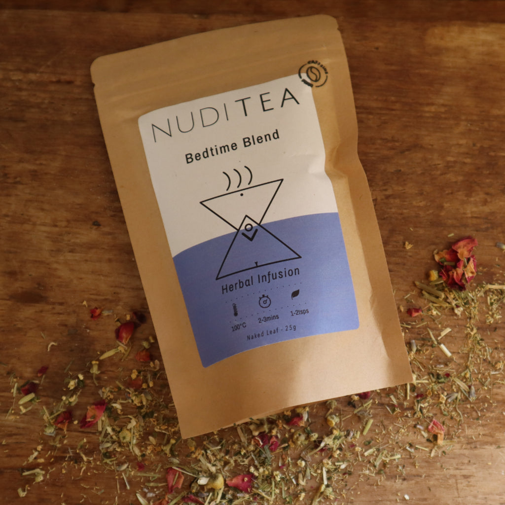 nuditea bedtime blend, bramble and fox, uk, hygge, natural sleep tea