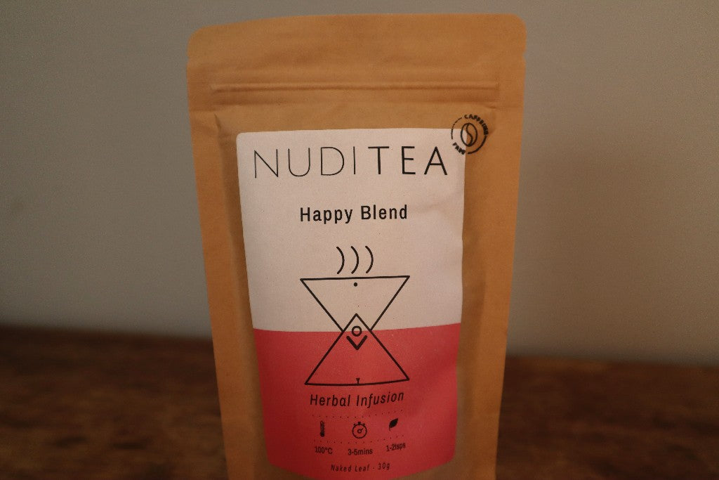 Happy Blend Artisan Herbal Tea by Nuditea