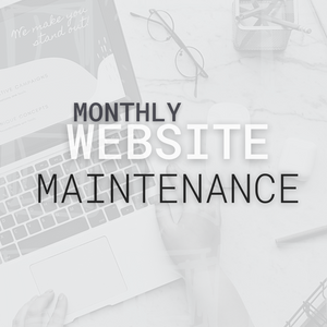 Monthly Website Maintenance - Aesthetics