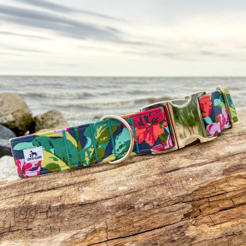 Summer 2020 Collection: Lily Pad Dog Collar, Summer Dog Collar