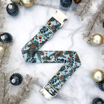 Ice Blue Winter Forest Collar with Pine Cones and Pine Branches - Winter 2019