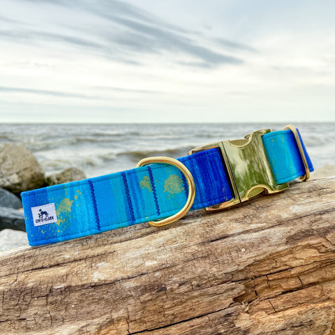 Summer 2020 Collection: Shoreline dog collar, Summer Dog Collar
