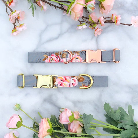 Vintage Dusty Rose Dog Collar - Fall 2019