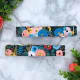 Garden Party Navy Blue Rifle Paper Co. Floral Dog Collar
