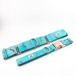 Turquoise Marble Dog Collar