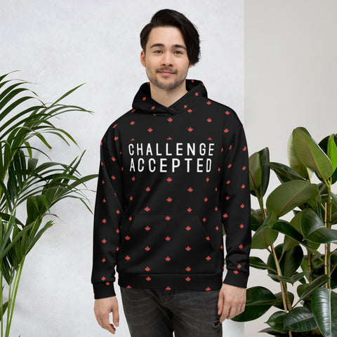 #CHALLENGEACCEPTED Maple Leaf Custom Unisex Hoodie