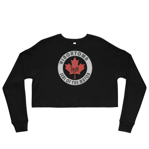 The Seal Of The Mayor Women's Crop Sweatshirt