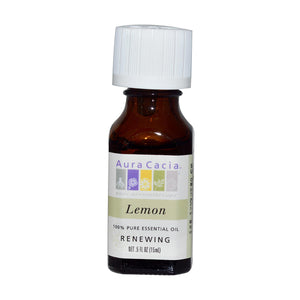 Aura Cacia Lemon Essential Oil - Tetra Meds