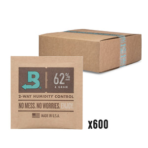 Boveda 2-Way Humidity Control 4 Gram – 62% RH - 600 Count - Tetra Meds