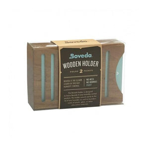 Boveda Wood 2 Packet Holder - Stacked - Tetra Meds
