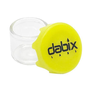 Dabix Labs 6ml Glass Concentrate Jar with Yellow Silicone Lid - Tetra Meds