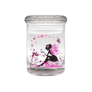 Fairy Glass Stash Jar 90ml Container 1/8 oz Jar - Tetra Meds