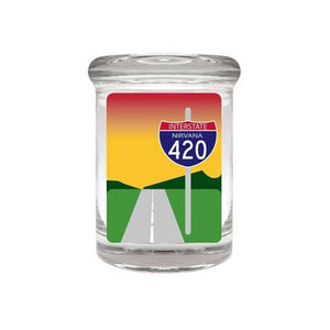 Interstate 420 Glass Stash Jar 90ml Container 1/8 oz Jar - Tetra Meds
