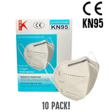 KN95 Adult Disposable Protective Face Mask - 10 Pack