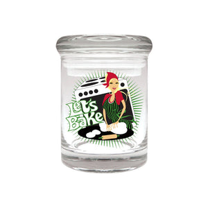 Let's Bake Glass Stash Jar 90ml Container 1/8 oz Jar - Tetra Meds