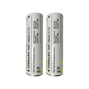 MXJO 18650 2500mAh Rechargeable 35A Battery - 2 Pack - Tetra Meds