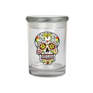 Skull Glass Stash Jar 1