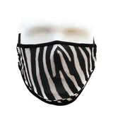 Fydelity Premium Protective Fabric Face Covering Mask - Zebra