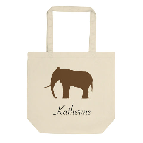 Personalized Elephant Eco Tote Bag