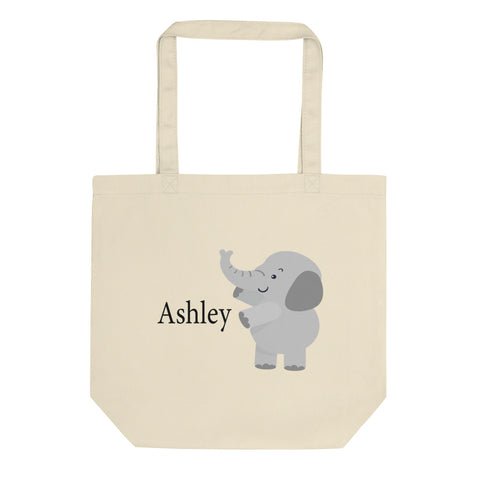 Personalized Elephant Diaper/Book Eco Tote Bag