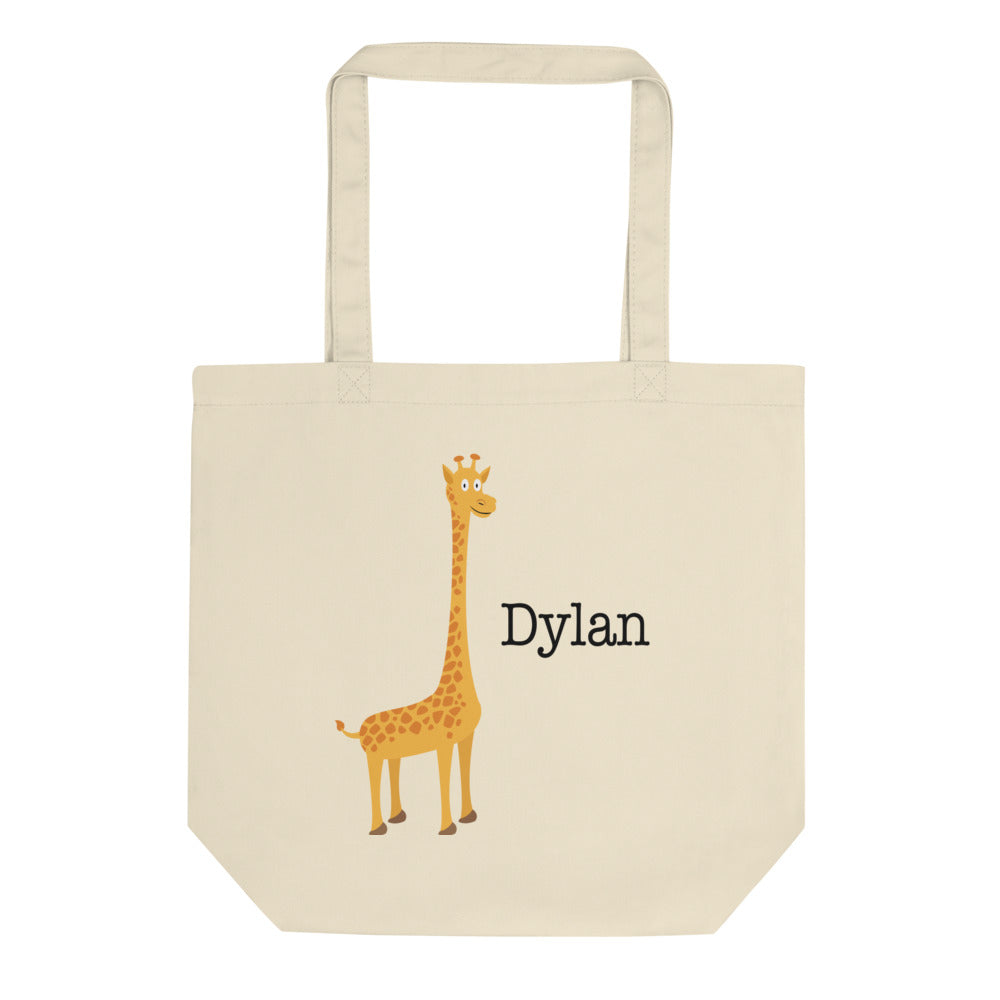 Personalized Giraffe Diaper/Book Eco Tote