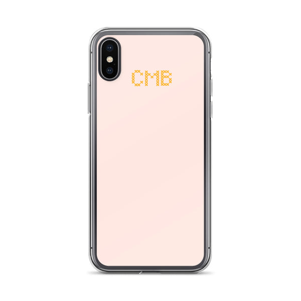 Cross Stitch Initials iPhone Case