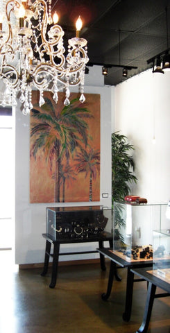 Palm tree painting by Kristen Abrahamson