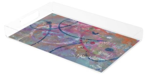 Acrylic Tray- Abstract A Moment in Time 10
