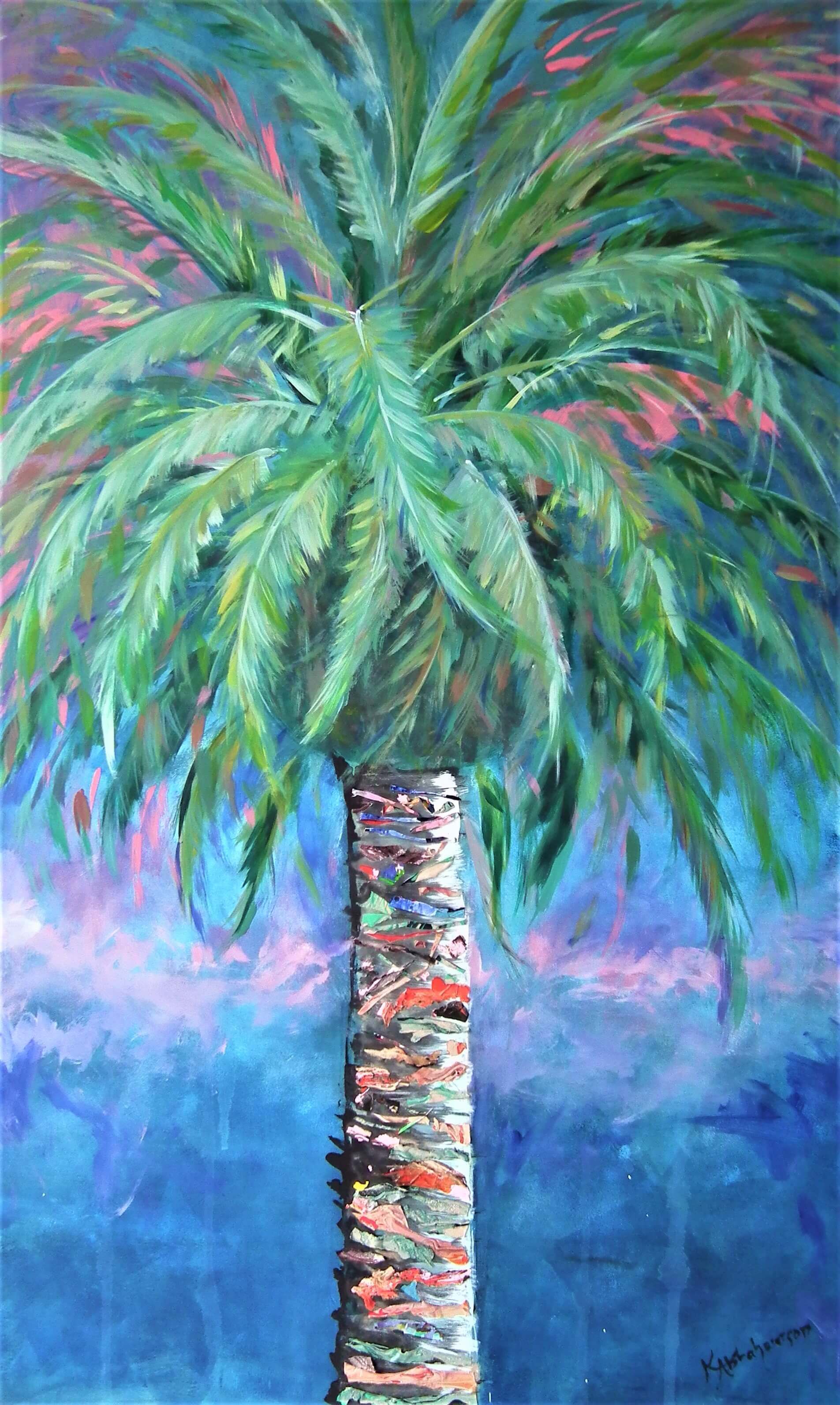 """Canary Island Sunset Palm"""