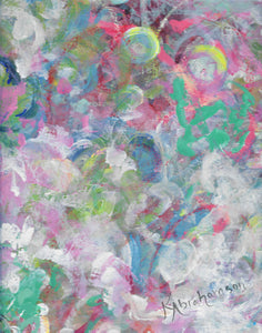 """Delightful Dancing 1"" Abstract Paintings"