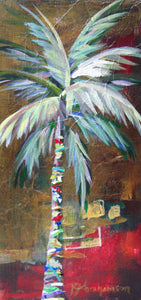 """Emerald Fire Palm Tree Painting"""