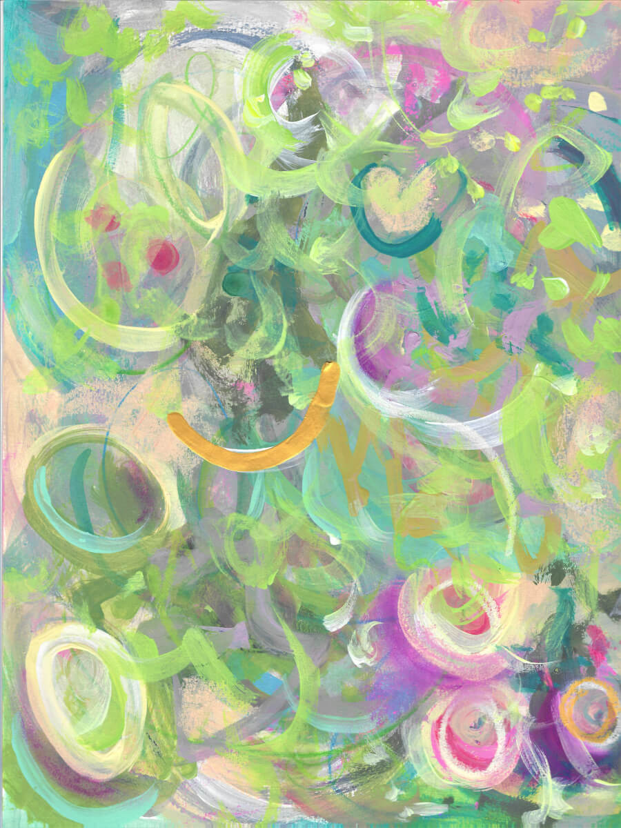 """Printemps 1 of 4"" Abstract Painting"