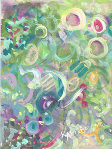 """Printemps 2 of 4"" Abstract Painting"