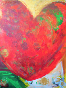 """Full Heart"" Heart Painting"
