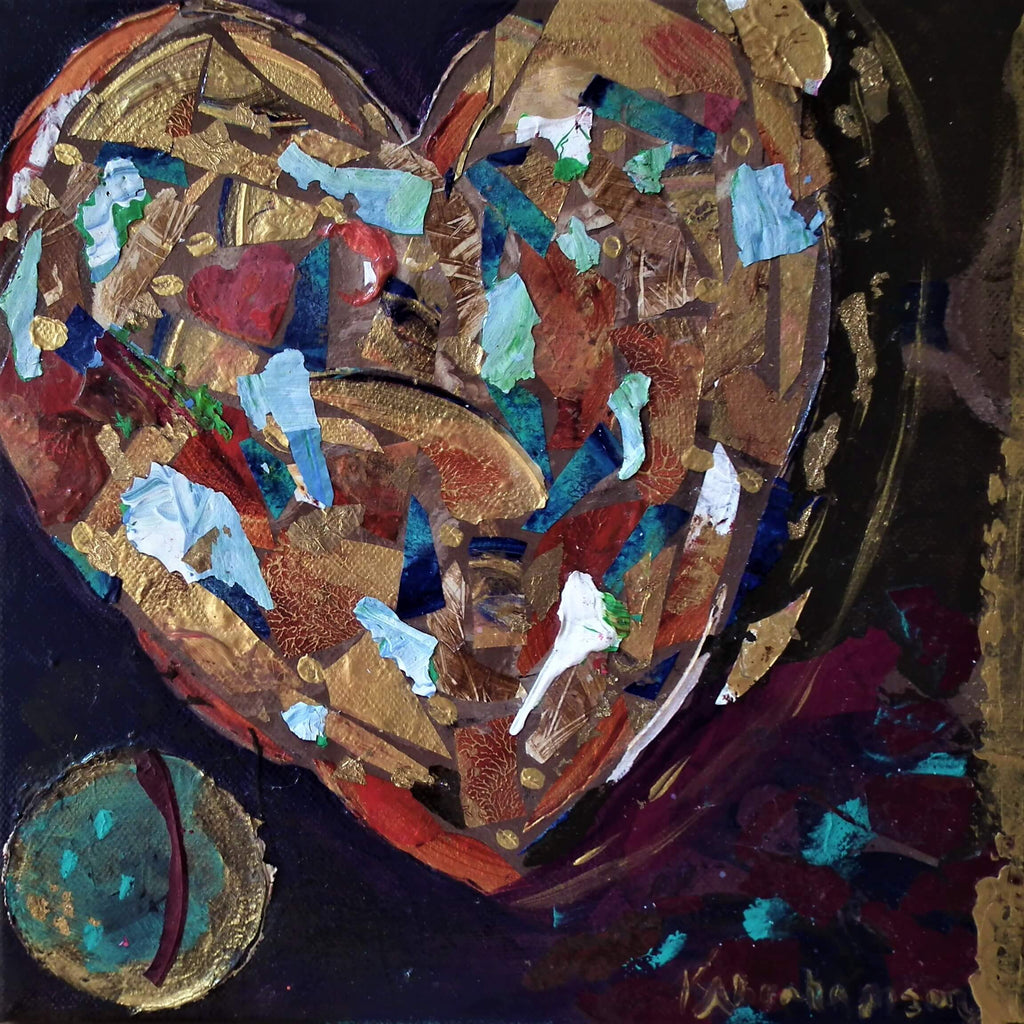 """You Complete Me"" Heart Painting"