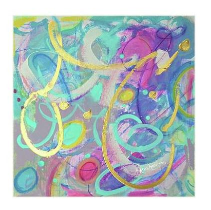 """Live Colorfully 1"" Abstract Painting"