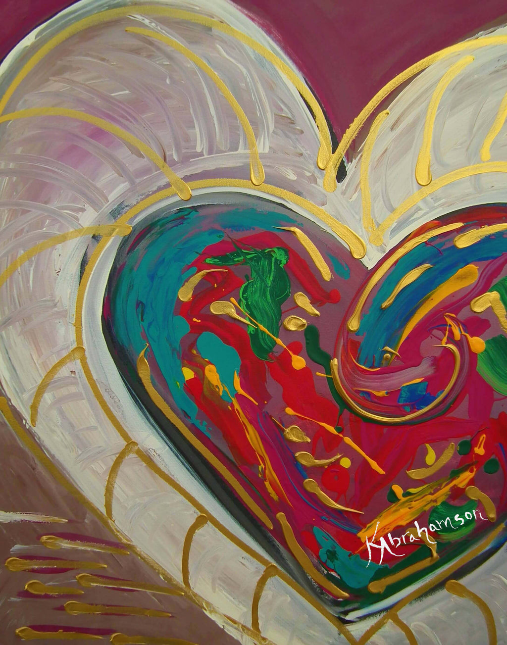 """Purple Passion"" Heart Painting"