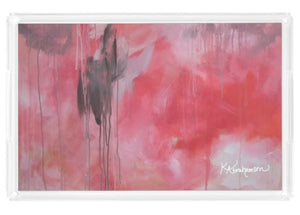 Acrylic Tray- featuring Pink Abstract Artwork