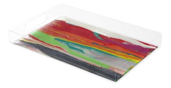 Acrylic Tray- featuring Raining Rainbows Abstract 201201